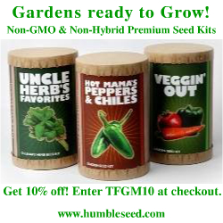 10% Off Code for Humble Seed's Organic & Heirloom Non-Hybrid Non-GMO Seeds