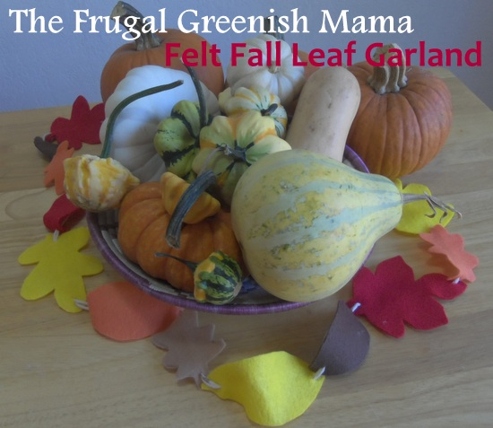 Kids Craft: Easy Felt Fall Leaf Garland