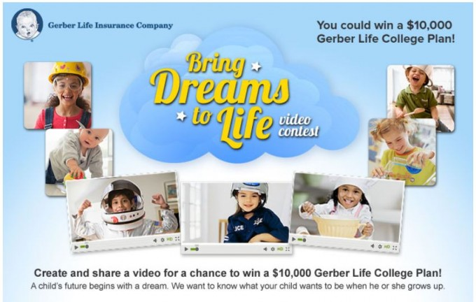 "Gerber Life ""Bring Dreams to Life Video Contest"" & Giveaway"