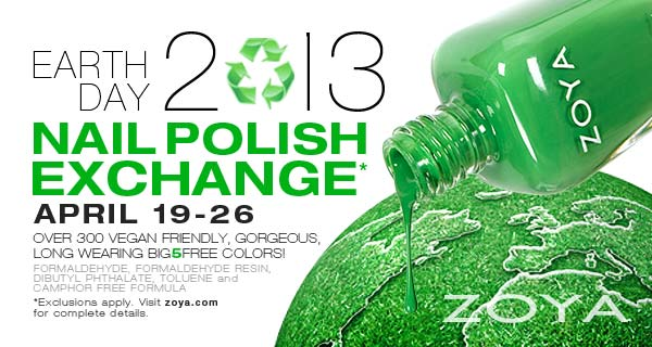 Zoya Earth Day Nail Polish Exchange!