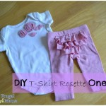 DIY T-Shirt Rosette Onesie Tutorial