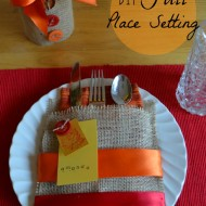 DIY Fall Place Setting and Utensil Holder