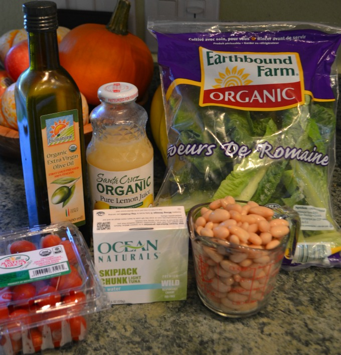 Tuscan Tuna Salad ingredients #OceansNaturals #cbias #shop