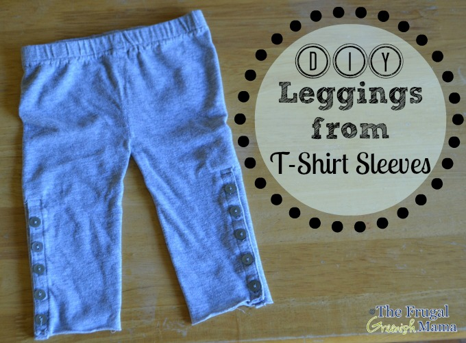 Upcycled t-shirt sleeve leggings