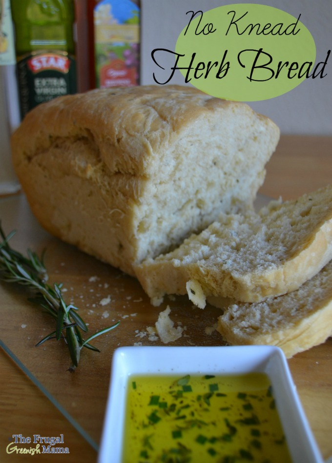 No Knead Herb Bread Recipe with Olive Oil