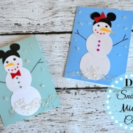DIY Mickey Snowman Cards