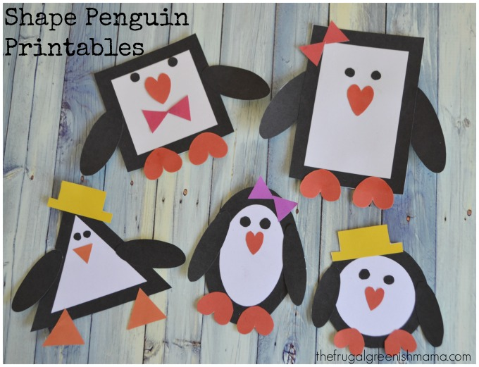 Penguin printable craft learn shapes our homemade life for How to make winter crafts