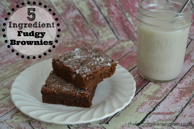 5 Ingredient Fudgy Brownies wide