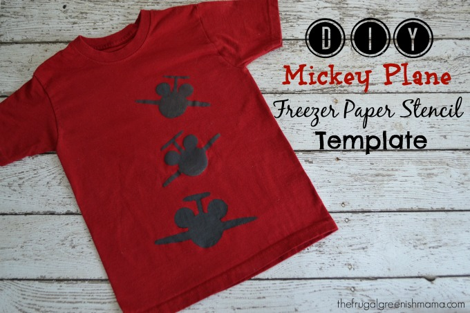 Mickey Plane Shirt Template 680