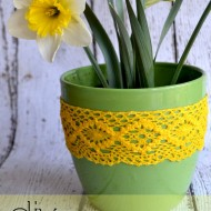 Simple Gifts: DIY Lace Planter