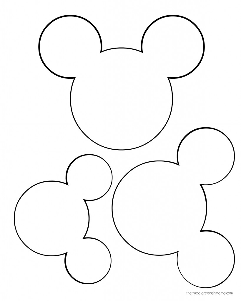 Versatile image with mickey mouse head template printable