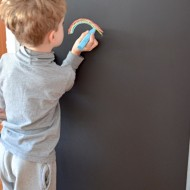 Creative Spaces – DIY Chalkboard Refrigerator