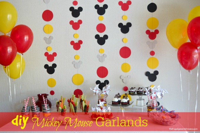 Mickey Mouse Birthday Decorations Diy diy : mickey garland decoration ...