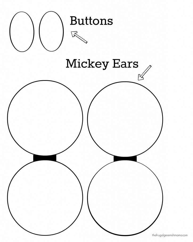 Mickey Hat Ear and Button Printable