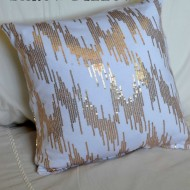 Repurpose Goodwill Clothes into a Beautiful Sequin Pillow
