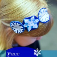 Make Your Own Snowflake Felt Headband