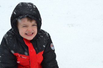 austin laughing in the snow-1