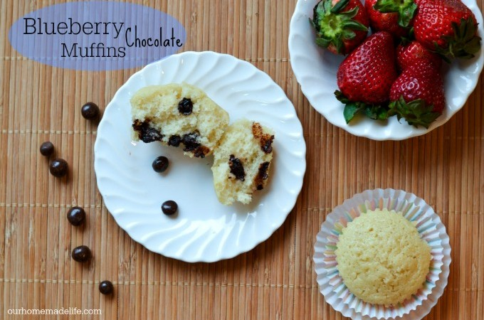 Blueberry Muffin Recipe with a hidden chocolate surprise! #LoveDoveFruits #ad