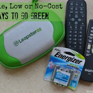simple low and no-cost ways to go green #bringinginnovation #ad
