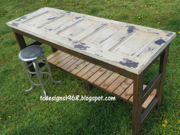 Diy ideas to repurpose old doors - Make a table from an old door ...