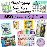 Unplugged for the Summer Giveaway ($50 Amazon GC)
